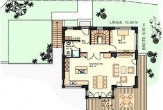 Holzhaus-Energieeffizienhaus-Alvarez in Oberhausen Floor Plans, How To Plan, Diy, Home, Log Home, New Construction, Build House, Ideas, Bricolage