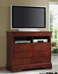 Coaster TV Dresser Stand Louis Philippe Style in Cherry Finish - http://www.furniturendecor.com/coaster-tv-dresser-stand-louis-philippe-style-in-cherry/ - Related searches: Bedroom Furniture, Furniture, Home and Kitchen, Home Entertainment Furniture, Television Stands and Entertainment Centers