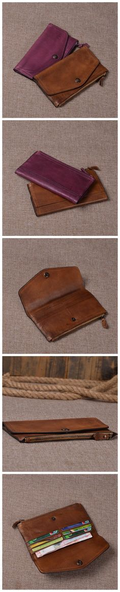 VINTAGE LEATHER WALLET, LEATHER CARD HOLDER, WOMEN PURSE, LEATHER CASE, WOMEN…