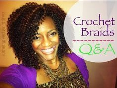 (26) Natural Hair Protective Style ~ Crochet Braids Q