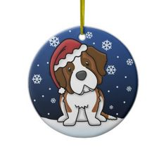 Kawaii Cartoon Saint Bernard Christmas Ornament   Click on photo to purchase. Check out all current coupon offers and save! http://www.zazzle.com/coupons?rf=238785193994622463&tc=pin