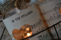 valentine day project, mason jar project, vintage music sheets ...