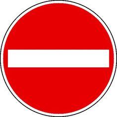 Verkehrszeichen / Verkehrsschilder - StVO Verbot der Einfahrt