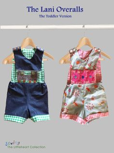 Free Pattern Sewing The Littleheart Collection: The Lani Overalls Toddler Sewing Patterns, Baby Girl Patterns, Sewing Kids Clothes, Sewing For Kids, Baby Sewing, Free Sewing, Kids Patterns, Pattern Sewing, Cute Overalls