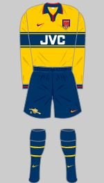1997-1999 Arsenal Kit