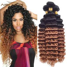 Ombre Brazilian Hair Deep Weave Virgin Hair Ombre Hair Bundles Brazilian Deep Wave Virgin Hair