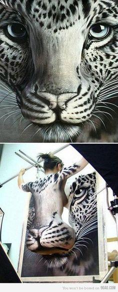 """3D cat - Für die Tattoo- und Körperkunst-Freunde unter Euch empfehlen wir das Board """"Body Art"""" von @Anil Tanwar"""