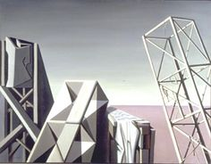 Kay Sage - 1946 - Bounded on the West by the Land Under Water