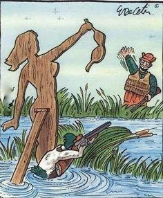Duck Gets Revenge - Naked Girl Decoy - Duck Hunter Trap