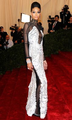 Met Gala Red Carpet 2012: Chanel Iman