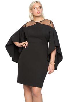5015b67cace1 Gosopin Cold Shoulder Plus Size Dress Party Women Autumn Elegant Dresses  Black Three Quarter Sleeve Office Lady Dress LC220395