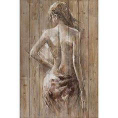 Table FEMME Nue draped from behind beige and white tones – Info and Dimensions Width: 120 cm – Height: 80 cm – Composition: Painting on wood – Other information: acrylic paint – Weight: kg – Human Painting, Figure Painting, Figure Drawing, Painting & Drawing, Fantasy Kunst, Fantasy Art, Erotic Art, Figurative Art, Love Art