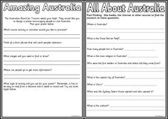 Australia Teaching Resources, including many free sets of worksheets, colouring… Australia For Kids, Australia School, Social Studies Worksheets, Teaching Social Studies, Free Worksheets, Teaching Packs, Teaching Ideas, Teaching Geography, My Father's World