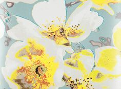 Black Edition Eden Paste the Wall Wallpaper at John Lewis & Partners gelb, Black Edition Eden Paste the Wall Wallpaper, Verbena Grey Wallpaper, Fabric Wallpaper, Fabric Houses, Black Edition, Wallpaper Online, Yellow And Brown, Graphic Patterns, Daffodils, Decoration