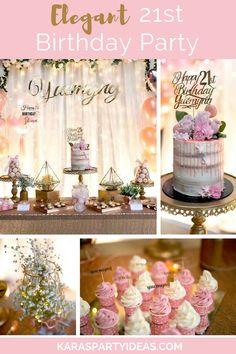 Elegant 21st Birthday Party Via Karas Ideas