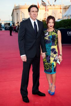 Alice Kim Photos - Nicolas Cage and his wife Alice Kim arrive at the premiere of the movie 'Joe' during the Deauville American film festival on September 2013 in Deauville, France. - 'Joe' Premiere - The Deauville Film Festival Nicolas Cage, Alice Kim, Engagement Celebration, Summer Romance, Partners In Crime, Celebs, Celebrities, Celebrity Couples, Film Festival