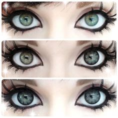 XTRA Big Color Contacts Bright and sparkling GEO XTRA large circle lenses│✮ ✯Perfect for dolly or anime/cosplay styles. Bright and sparkling GEO XTRA large circle lenses│✮ ✯Perfect for dolly or anime/cosplay styles. Cosplay Anime, Cosplay Diy, Cosplay Makeup, Kawaii Cosplay, Anime Make-up, Anime Eyes, Goth Makeup, Beauty Makeup, Hair Makeup