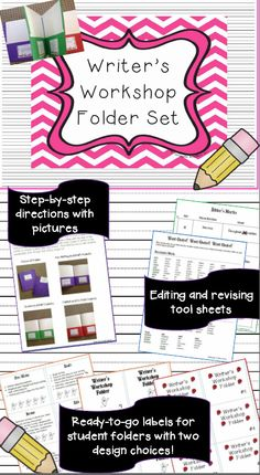 The BEST Writer's Workshop Folder you will use in your classroom!  Makes managing the writing process easy for any student at any grade level!