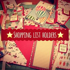 Craft Fair Idea #8:  Shopping List Holders! ( with pocket to hold notepad)