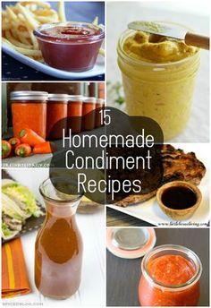 15 Homemade Condiment Recipes