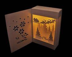 3D SVG Shadow Box Lantern Snowman by MySVGHUT on Etsy