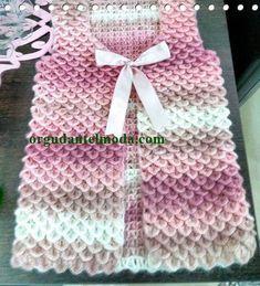 Hand Knitting Women's Sweaters Baby Knitting Patterns, Crochet Stitches Patterns, Dress Sewing Patterns, Knitting Designs, Knitting Projects, Hand Knitting, Gilet Crochet, Crochet Coat, Crochet Jacket