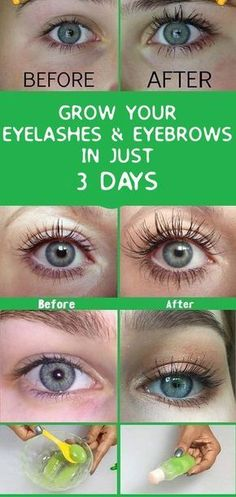 GROW YOUR EYELASHES & EYEBROWS IN JUST 3 DAYS #beauty #eye #hair #health #skincare