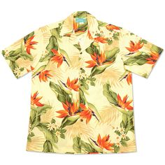 sienna hawaiian cotton shirt Casual Button Down Shirts, Casual Shirts, Camisa Floral, Vintage Hawaiian Shirts, Casual Date, Aloha Shirt, Made Clothing, Beach Shirts, Sewing A Button