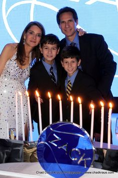 Basketball Bar Mitzvah Candle Lighting, Blue {Chad David Kraus Photography} - mazelmoments.com