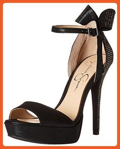Jessica Simpson Women's Baani Dress Pump, Black/Hematite, 7 M US - Pumps for women (*Amazon Partner-Link)