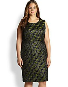 Lafayette 148 Plus Size Jeweled Dress
