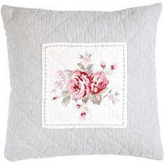 GreenGate Quilted Cushion 'Vilma', Vintage 40x40 cm