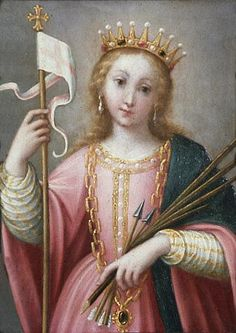 "Saint Ursula (Latin for ""little female bear"") is a Romano-British Christian saint. She is patron of Cologne, England, archers, orphans, female students, Binangonan, Rizal. Feast day: October 21."