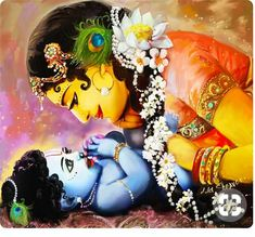Krishna Art Mixed Media - Gopalji by Lila Shravani Yashoda Krishna, Krishna Leela, Radha Krishna Photo, Krishna Radha, Radha Rani, Durga Puja, Little Krishna, Cute Krishna, Lord Krishna Wallpapers