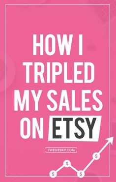 I used to earn very little from Etsy last year (2014) until I decided to take it…