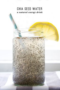 Chia Seed Coconut Water With Lemon   Not Your Standard