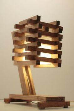 Wood Table/Desk/Bedside Lamp III