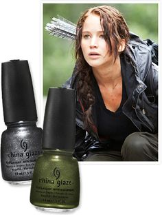 I am that obsessed with The Hunger Games, I may just need to get me some Panem-inspired nail polish.