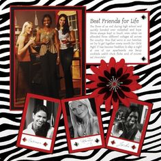 scrapbooking layouts, scrapbook ideas by leanne Scrapbook Paper Crafts, Scrapbook Pages, Scrapbooking Ideas, Scrapbook Sketches, Scrapbook Page Layouts, Digital Scrapbooking, Creation Deco, Zebra Print, Scrapbook For Best Friend