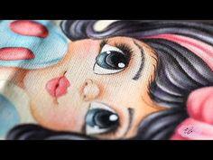 Pintura em tecido - Eliane Nascimento: Cabelinho - YouTube