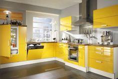 Cuisine jaune deco Clem Around The Corner Home Decor Kitchen, Interior Design Kitchen, Kitchen Furniture, New Kitchen, Furniture Stores, Furniture Websites, Cheap Furniture, Yellow Kitchen Cabinets, Kitchen Cabinet Colors