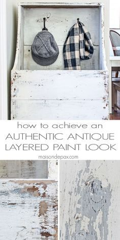 how to achieve an authentic looking antique, layered paint effect - step by step tutorial with easy to follow instructions | maisondepax.com