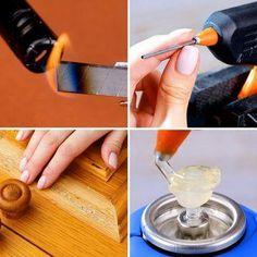 Diy Crafts And Hobbies, Diy Crafts Hacks, Diy Home Crafts, Fun Crafts, Amazing Life Hacks, Simple Life Hacks, Useful Life Hacks, Glue Gun Crafts, Diy Resin Crafts