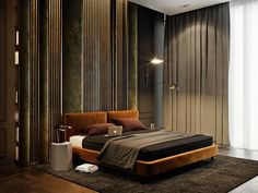 Luxurious interior design created by the various materials and colors used in the Oko Tower apartment in Moscow - CAANdesign | Architecture and home design blog