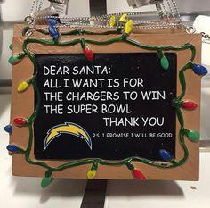 Santa Wishlist - San Diego Chargers