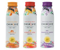 Chia Vie Beverage Packaging - All Flavors - Nombres - Getränke Tea Packaging, Beverage Packaging, Bottle Packaging, Packaging Design, Packaging Ideas, Easy Cake Recipes, Raw Food Recipes, Green Desserts, Chia