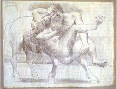 Abduction (Nessus And Deianeira) 1920 Pablo Picasso