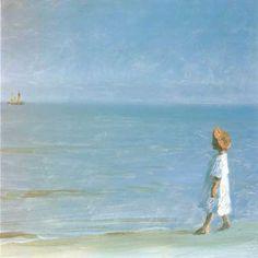 The Little Girl on Skagen Beach by Peder Severin Krøyer (1851-1909) link