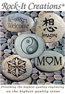 Special Offer from Rock- It Creations: Get Free Shipping and pay no sales tax Pebble Stone, Pebble Art, Stone Art, Pet Grave Markers, Free Catalogs, Garden Catalogs, Inspirational Rocks, American Heritage Girls, Art Articles