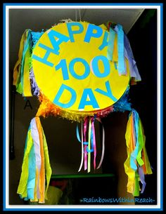 photo of: 100 Day Party Parade Drum (via 100 Day RoundUP at RainbowsWithinReach) Preschool Learning, Kindergarten Classroom, Kindergarten Activities, Preschool Ideas, Teaching Ideas, Classroom Ideas, February Holidays, School Holidays, Craft Projects